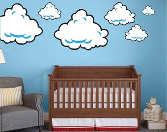 Super Mario Room Cloud Wall Decal Stickers, Bedroom Cloud Wall Murals,  Super Mario Wall Part 97