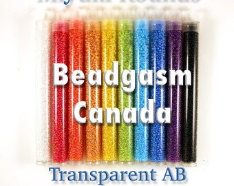 Transparent AB Miyuki Rounds Bead Collection 220 grams size 11/0