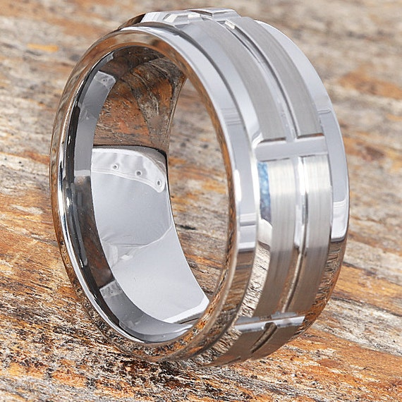 Embrace 10mm Tungsten Spinner Ring Spinner Style Wedding Band
