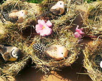 "Natural Bird Nests 4,5"" inch,Scrapbooking Embellishments, Wreaths Craft Supplies,easter crafting,Easter Decoration, Spring Decoration"