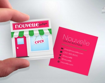 Storefront Business Cards - Boutique - Design and Printing - 16PT UV - 100, 250, 500, 1000