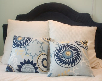 Light Blue Geometric Pillow Pair