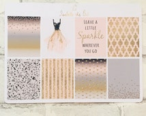 Happy Planner Sparkle In Nude Decorative Box Planner Stickers