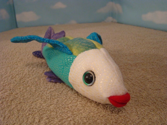 Propeller the fish ty beanie baby baby for Fish beanie baby