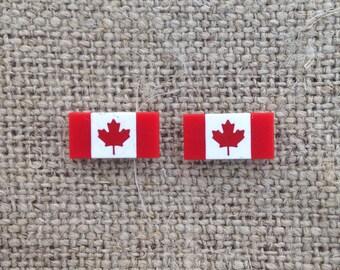 Canada flag earrings