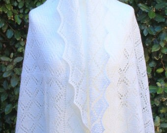 Shawl Chale Tippet Handmade Mohair Pure Wool