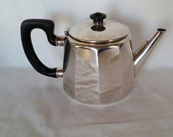Vintage Elkington Silver Art Deco Teapot