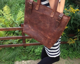 Premium Italian Leather !! Brown Leather Tote.Brown leather tote bag.Leather tote.Leather tote bag.Vintage leather tote.9