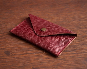 Snake looking leather credit card/ business card/ ID case/ wallet