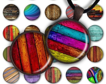 75% OFF SALE Wood Texture - Digital Collage Sheet 1inch Round Pendant 30mm 25mm 20mm Circle Download PC057 Instant Download Jewelry Making
