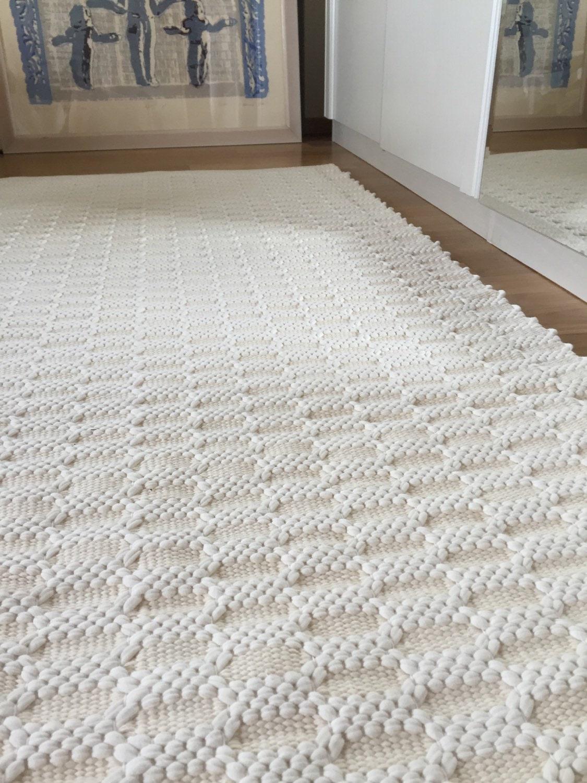 Ivory white rug bedroom rug thick and soft rug handmade on for White bedroom rug