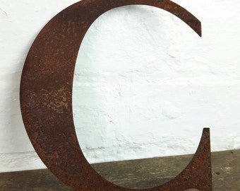 Rusted Steel Letter 'C'