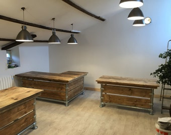 Scaffold desk plank urban industrial desks 5ft x 2ft 6 inches work stations