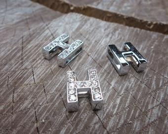 Letter H Slot Charms ~1 pieces #100622