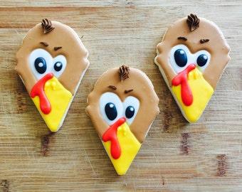 12 Turkey Cookies