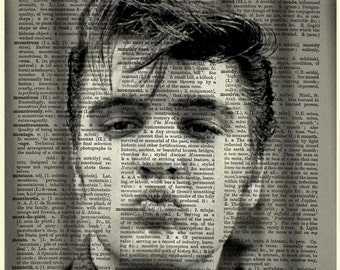 Elvis Presley Dictionary Art Upcycled Vintage Page Print Poster