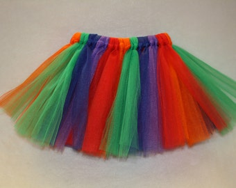 Rainbow Tutu, 1st Birthday Tutu, Infant Tutu, Toddler Tutu
