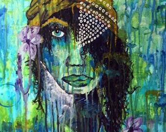 "SOLD**** Custom ORIGINAL 24"" by 18"" Acrylic Painting"