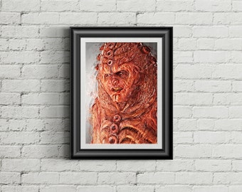Doctor Who Set: Zygon, Digital illustration - Instant Download Digital File