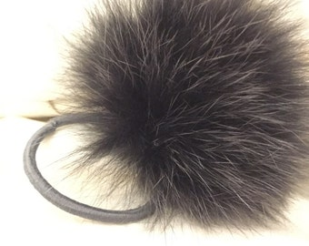 Fur Pompom (Fox and / or raton) recycled.