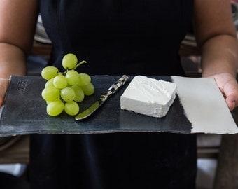 Ceramic Cheese Platter, Ceramic Sushi Platter, Slate Cheese Board , Serving Platter, Serving Tray, Serving Board, Housewarming Gift