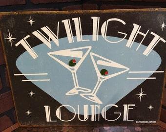 Twilight Lounge Tin sign
