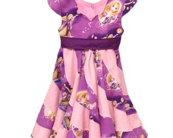 Disney Rapunzel Tangled Theme, Twirl Dress,Pageant Custom Boutique in sizes 6M- 10 girls