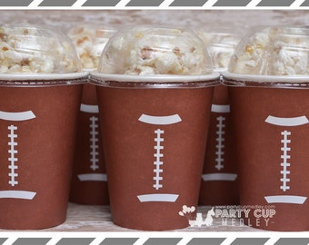 Football Party-Super Bowl Party-Popcorn Cups-Set of 10