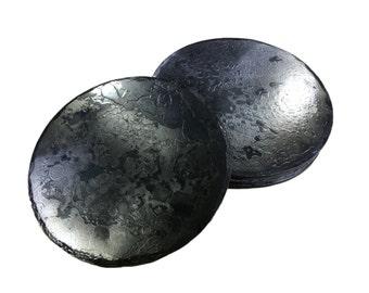 Forged Iron Circle Coasters - Set of 4
