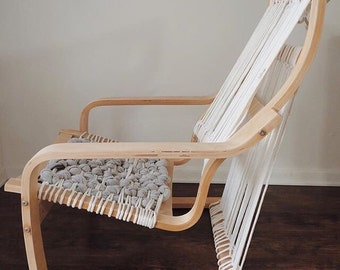 Rope chair natural rocking chair modern eco friendly