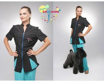 Grooming Jacket ULTRA ENERGY for Dog groomer Pet groomer Zoostylist Grooming equipment Grooming clothing groomers clothing