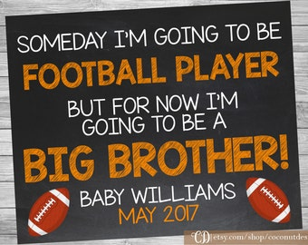 Football Big Brother Pregnancy Announcement / Printable Chalkboard / Pregnancy Announcement / Quarterback / Digital File