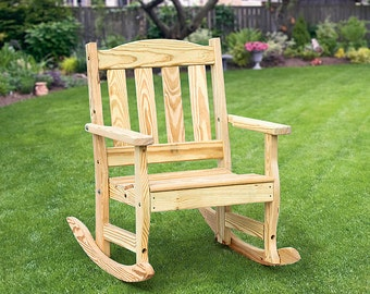 Pine rocking chair  Etsy