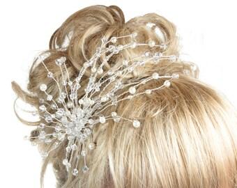 Wedding Sideband, Side Tiara, Wedding Hairband, Bridal Side Tiara,