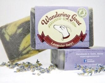 Lavender Swirl Goat's Milk Soap