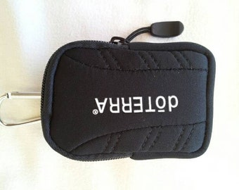 doTERRA branded keychain roll on case  perfect for essential oils will hold 3 10 ml roll ons or 2 15 ml oil bottles