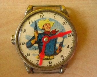 1959 Toy Tin Cowboy Watch.