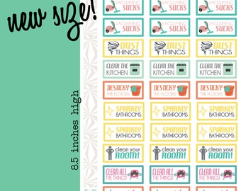 Housecleaning Sucks Planner Stickers (#022)