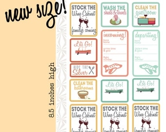 House Guest Planner Stickers (#041)