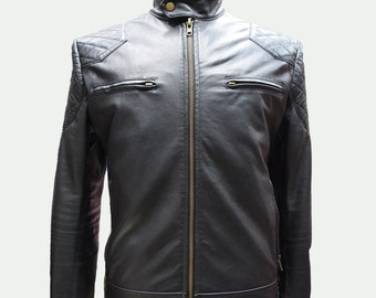Custom Leather Jacket - Men's Leather Jacket - Motorcross Jacket - 100% Lambskin
