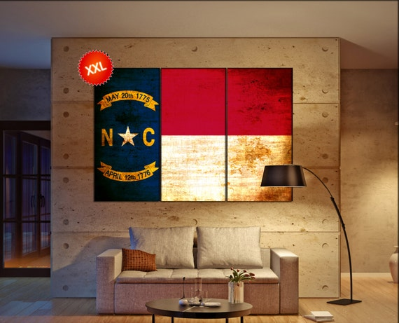 north carolina state flag  canvas north carolina state flag wall decoration north carolina state flag canvas art large canvas