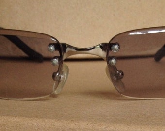 Vintage Grey and Silver Sunglasses
