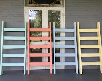 Outdoor Rustic Pool Towel Ladders- 5ft x 27 inches wide -Hand Crafted in the USA....
