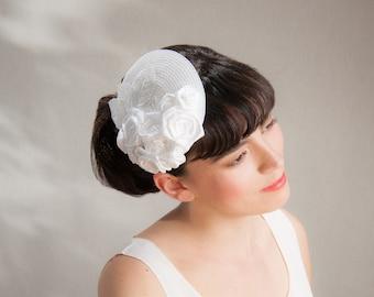 Bridal Fascinator offwhite