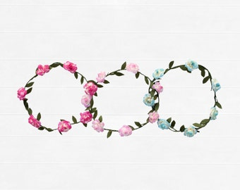 Baby/Girls Flower Wreath Crown