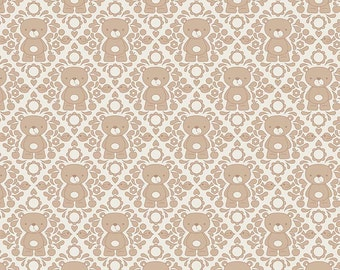Riley Blake Designs Teddy Damask Brown