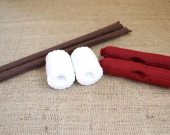 Felt Roasting Set - Sticks With Marshmallows & Hot dogs