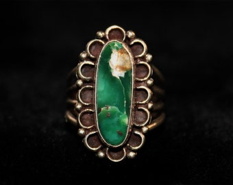 Broken Arrow Turquoise Ring 002