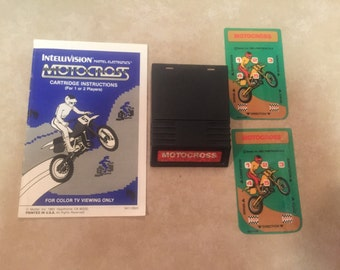 Motocross Intellivision Vintage Game. Works Great.