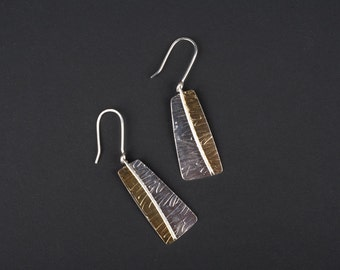 Sterling silver textured errings.
